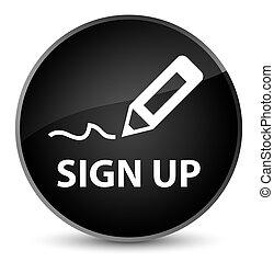 Sign up elegant black round button