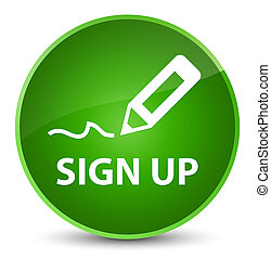 Sign up elegant green round button