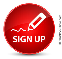 Sign up elegant red round button