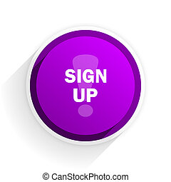 sign up flat icon