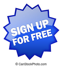 Sign up for free icon
