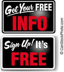 Sign up Free INFO Store Sign Set - Sign up to get your FREE ...