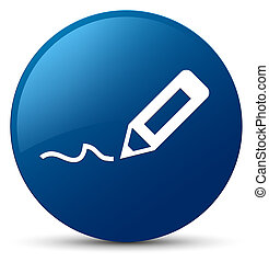 Sign up icon blue round button