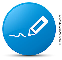 Sign up icon cyan blue round button