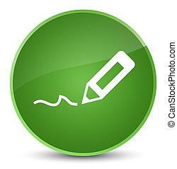 Sign up icon elegant soft green round button