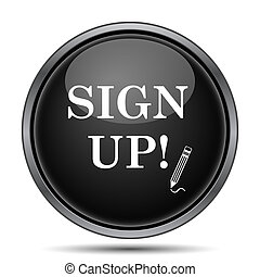 Sign up icon. Internet button on white background.