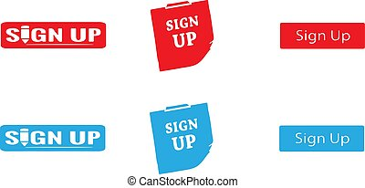 sign up icon on white background