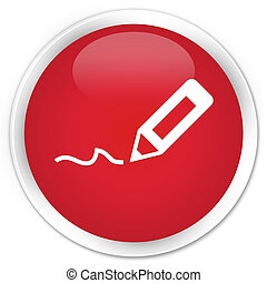 Sign up icon premium red round button
