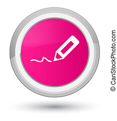 Sign up icon prime pink round button