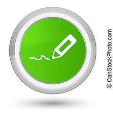 Sign up icon prime soft green round button