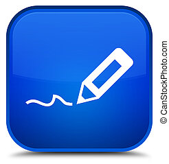 Sign up icon special blue square button