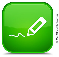 Sign up icon special green square button