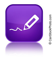 Sign up icon special purple square button
