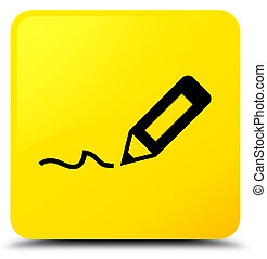 Sign up icon yellow square button