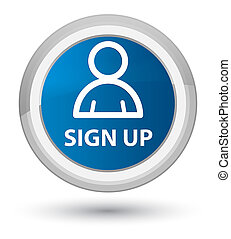 Sign up (member icon) prime blue round button