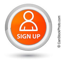 Sign up (member icon) prime orange round button
