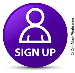 Sign up (member icon) purple round button