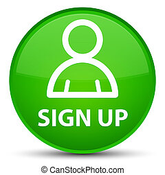 Sign up (member icon) special green round button