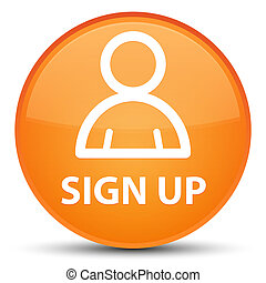 Sign up (member icon) special orange round button