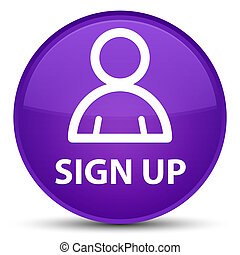 Sign up (member icon) special purple round button
