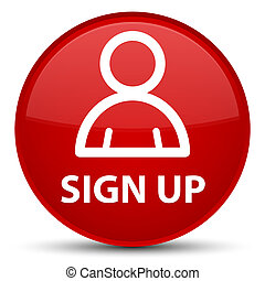 Sign up (member icon) special red round button