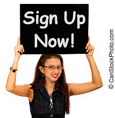 Sign Up Now Message Shows Immediate Registration - Sign Up ...