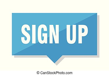 sign up blue square price tag