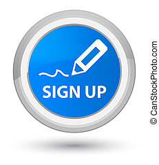 Sign up prime cyan blue round button