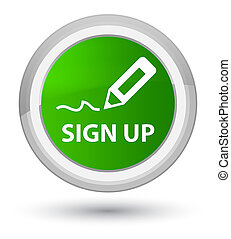 Sign up prime green round button