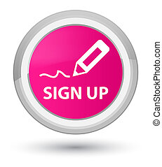 Sign up prime pink round button