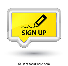 Sign up prime yellow banner button