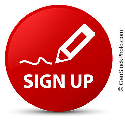 Sign up red round button