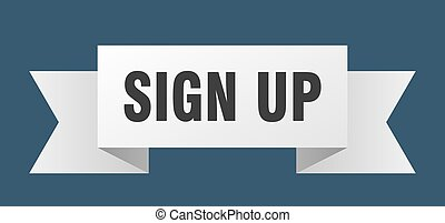 sign up ribbon. sign up isolated sign. sign up banner