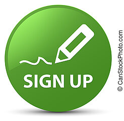 Sign up soft green round button
