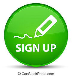 Sign up special green round button