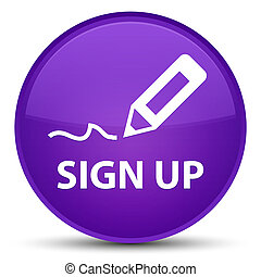 Sign up special purple round button