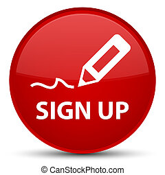 Sign up special red round button