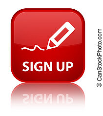 Sign up special red square button