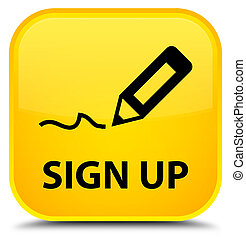 Sign up special yellow square button