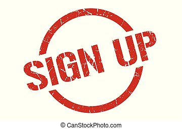 sign up stamp