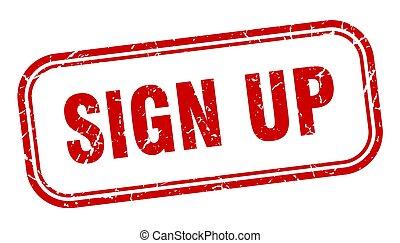sign up stamp. sign up square grunge sign. sign up