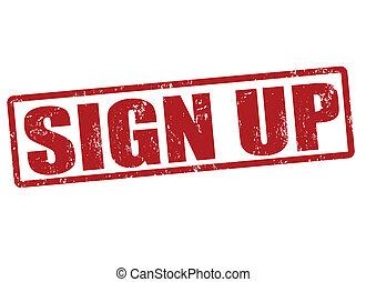 Sign up stamp