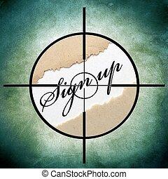 Sign up target