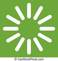 Sign waiting download icon green