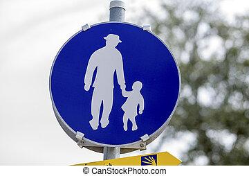 sign walkway