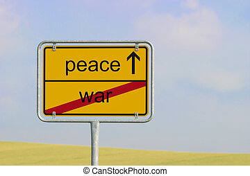 Sign war peace