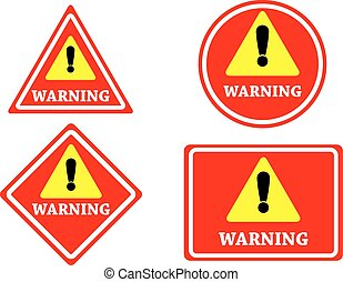 sign warning red color isolated