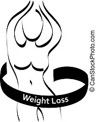 Sign weight loss outline