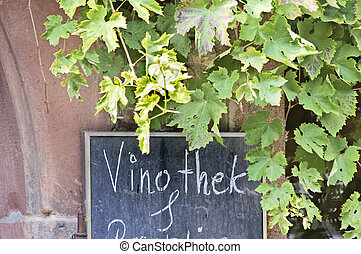 Sign wine bar