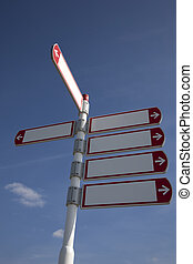 sign with a blue sky